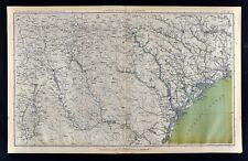 Civil War Map Georgia Atlanta Savannah South Carolina Atlanta Charleston Augusta