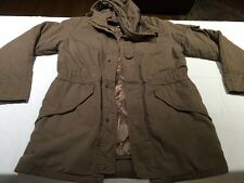 Margaret Howell M Cotton Khaki Brown Hooded Utilitarian Jacket Coat MHL III