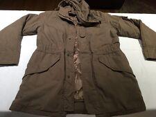 Margaret Howell M Cotton Khaki Brown Hooded Utilitarian Jacket Coat MHL III