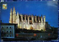 Spain Mallorca Palma La Catedral de Noche - posted 1969
