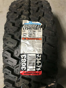 1 New LT 245 70 17 Cooper Discoverer S/T 10 Ply Mud Tire