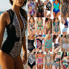 Women's One Piece Swimsuits Monokini Swimwear Bathing Suit Push Up Bikini Beach