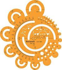 RAGGIO raggi dei cerchi di metrica FORME SIMBOLI Disegno MODELLO DI DISEGNO STENCIL