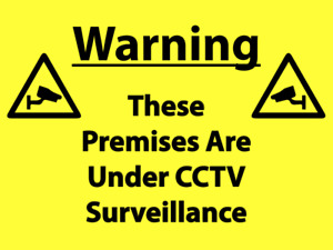Warning CCTV Sign made from Aluminium Composite