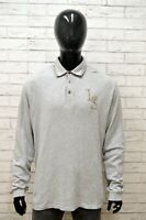 Polo Uomo ELLESSE Taglia XXL Maglia Maglietta Camicia Shirt Man Regular Grigio
