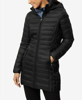 32 Degrees Womens Packable Hooded Down Puffer Coat Small Black