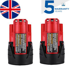 2x For Milwaukee M12 12V 3.0Ah Battery M12B4 M12B2 M12 48-11-2401 48-11-2411