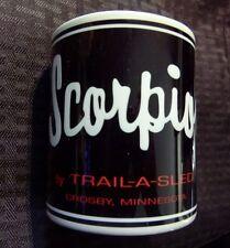 Reproduction Vintage Scorpion Trail-A-Sled Snowmobile Logo Coffee Mug