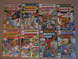 "Lot 8 Comics VO import USA""FANTASTIC FOUR"" MARVEL 1976-77"