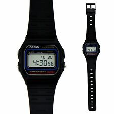 New Unisex Quartz Casio Watch With Black Resin Strap Vintage For Men & Ladies