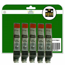 5 Grey C526 Ink Cartridges for Canon Pixma MG8150 MG8170 MG8220 MG8250 non-OEM