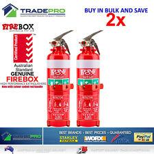2x Fire Extinguisher 1kg ABE Professional Dry Powder 1kg &Bracket Car Boat Home