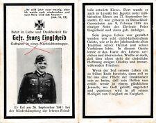 Nr17957 Sterbebild deathcard Nachrichten Soldat 1941 Kiew Düsseldorf Gerresheim