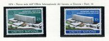 19112) UNITED NATIONS (New York) 1974 MNH** Nuovi** ILO