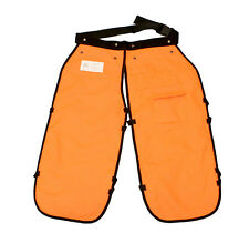 "37"" Inch Safety Chainsaw Chaps w/ Pocket Logging Safety Gear Apron Style Orange"
