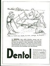 Publicité ancienne produit Dentol antiseptique 1933  Poulbot