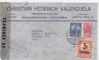 colombia to u.s.  1944  censor  air mail stamps cover ref r15481