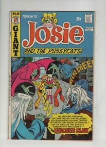 JOSIE AND THE PUSSYCATS #68 Fine+, Dan DeCarlo haunted house cover & art, 1973