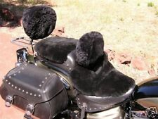 Motorcycle Sheepskin Backrest Cover: Made in USA!