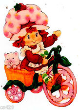 "7"" STRAWBERRY SHORTCAKE BICYCLE WALL SAFE STICKER CHARACTER BORDER CUT"