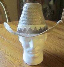 Bee Cool Western Cowboy Straw Hat Straws Size 7 Tan Brown Rodeo Club Wear