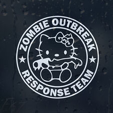 Hello KITTY rompu Main Zombie Outbreak Response Team Autocollant Vinyle Autocollant Voiture