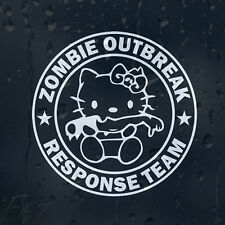 Hello Kitty Severed Hand Zombie Outbreak Response Team Car Decal Vinyl Sticker