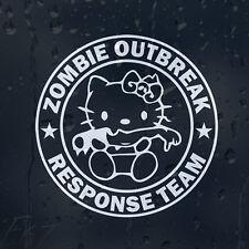 Hello Kitty Cortada A Mano Zombie brote equipo de respuesta coche decal pegatina de vinilo