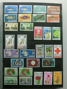 Gambia - page of stamps