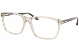 Tom Ford TF5479-B 020 Eyeglasses Men's Transparent/Grey Horn Square 56mm