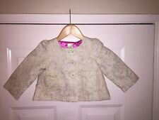 NWT BABYSTYLE lined Vivian Tapestry Coat Jacket Brocade Cream Gold size 2T $58