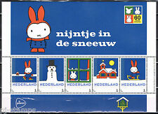Nederland 3012 Postzegelvel Dick Bruna - Nijntje in de sneeuw * Miffy