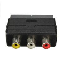 SCART Stecker auf 3 Cinch Buchse A / V Audio Video Adapter Konverter für TVD*