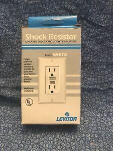 Leviton Shock Resistor Ground Fault Circuit Interrupter 802-6599-W White