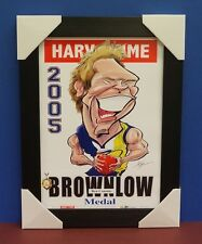 Ben Cousins 2005 Brownlow Medallist Limited Edition Print Black Frame West Coast