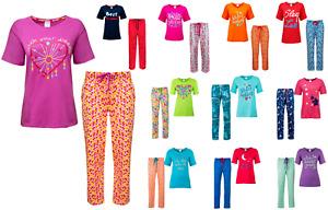 Womens Ladies Pyjama Set Pjs Pajamas Nightwear Loungewear Cotton New Pyjama Sets