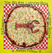 THE BIG ASS LOBSTER PIZZA ORIGINAL PAINTING ITALIAN FOOD POP ART ANTHONY FALBO
