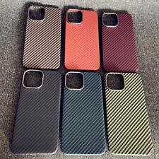 100% Carbon Fiber Case For Apple iPhone 13Mini /13/13 ProMax Aramid Hard Cover