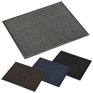 Entrance Door Floor Barrier Mat 60x80cm Cambridge Rubber Backing Home Office NEW