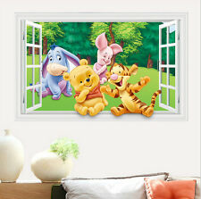 Winnie the Pooh Smashed Cute Wall Decal Poster 3D Art Stickers Vinyl Room