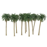 10pcs plastic cement Green Model Coconut Palm Trees model landscape 1/100