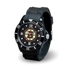 Boston Bruins NHL Men's Black Sparo Spirit Watch