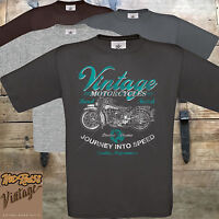 Mens Biker T shirt Vintage Motorbike Motorcycle Classic Bobber Chopper Bike 63