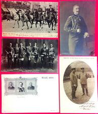 KAISER WILHELM, GERMAN EMPIRE & PRUSSIA ROYALTY - 5 ORIGINAL ca 1900's POSTCARDS