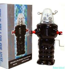 Robby the Robot Space Trooper Tin Toy Crank Wind BLACK 1950's Version