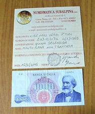 REPUBBLICA BANCONOTA LIRE 1000 VERDI I° TIPO 4 GENNAIO 1968 MOLTO RARA qSPL