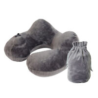 U-Shaped Neck Pillow Inflatable Cushion for Travel with Airplane Train Car