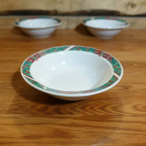 1 Cereal Bowl Christmas Holly(Green Stamp) Gibson 1 Available - Swanky Barn