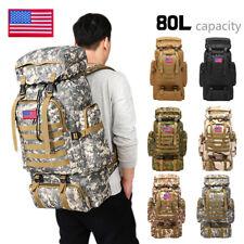 80L Large Outdoor Military Tactical Rucksack Backpacks Hiking Camping Travel Bag