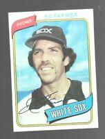 1980 Topps Ed Farmer 702 Chicago White Sox Baseball